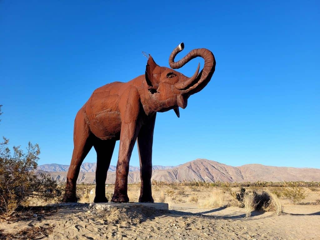 elephant sculpture at galleta meadows