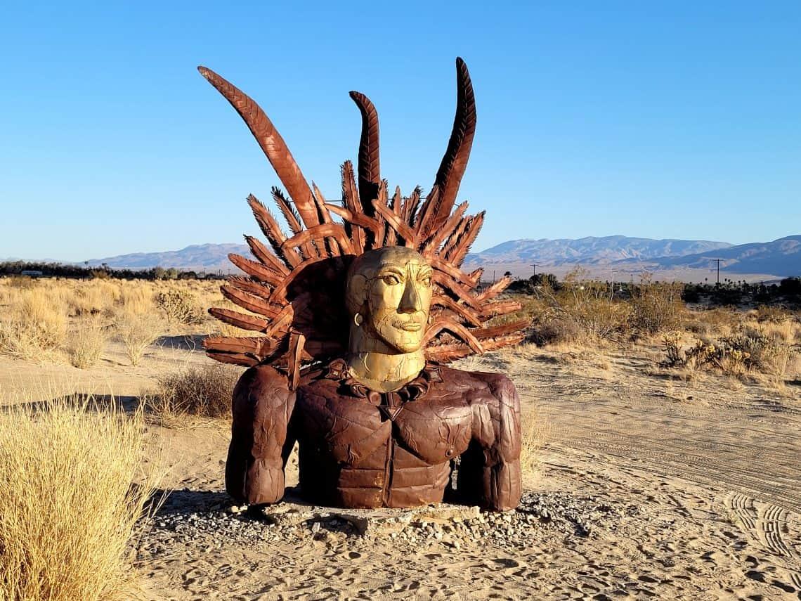 indian sculpture at galleta meadows
