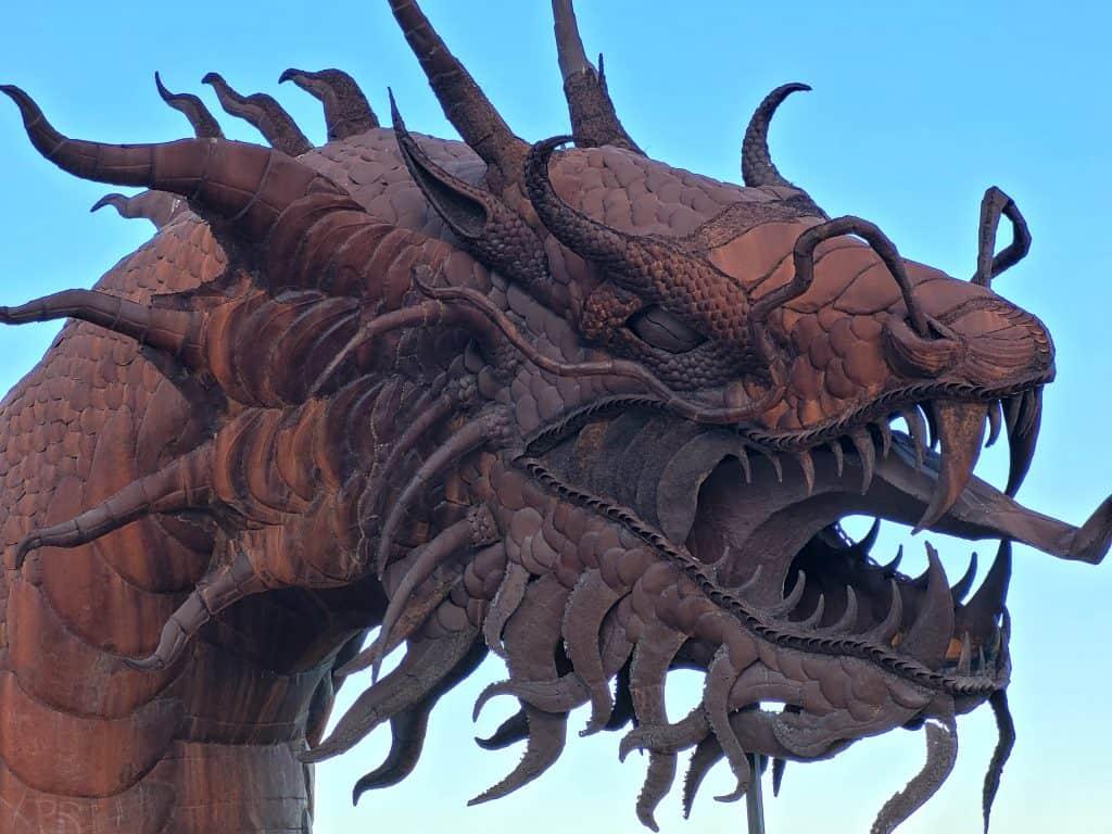 sea serpent sculpture at galleta meadows