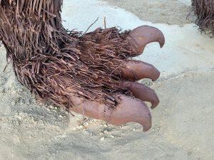 close up of sloth sculpture at galleta meadows