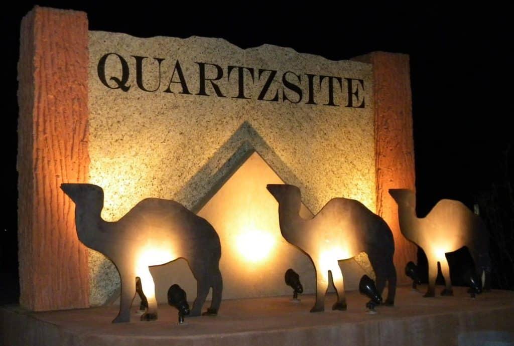 quartzsite camel sign