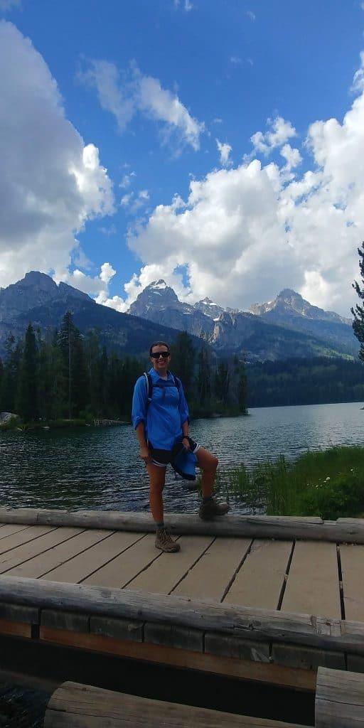 kara on taggart bradley lake loop trail at grand teton