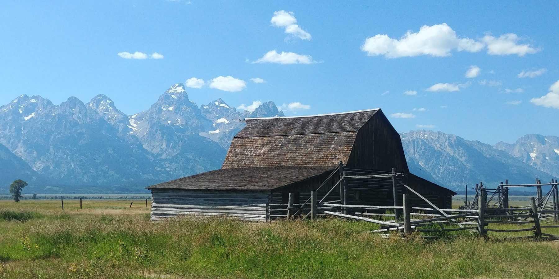 mormon row barn at grand teton