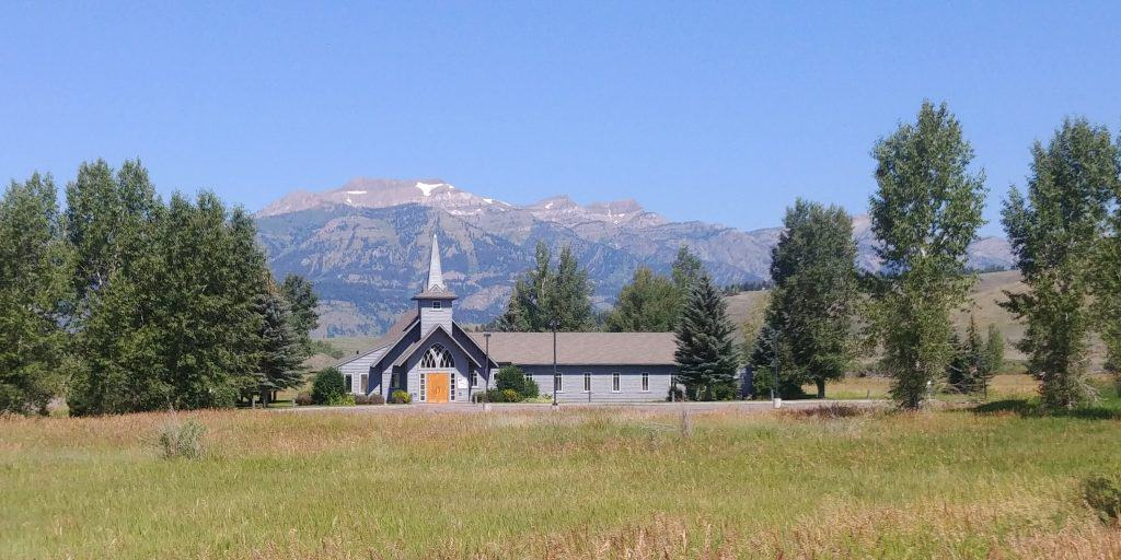 chuch along the grand loop multi use trail  in jackson wyoming