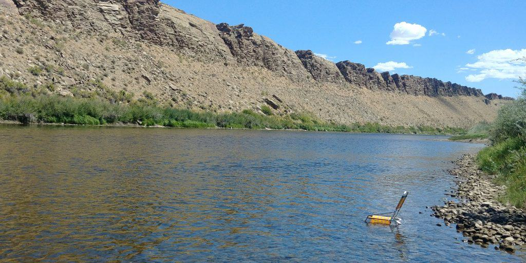 chair in the river at dugway campground