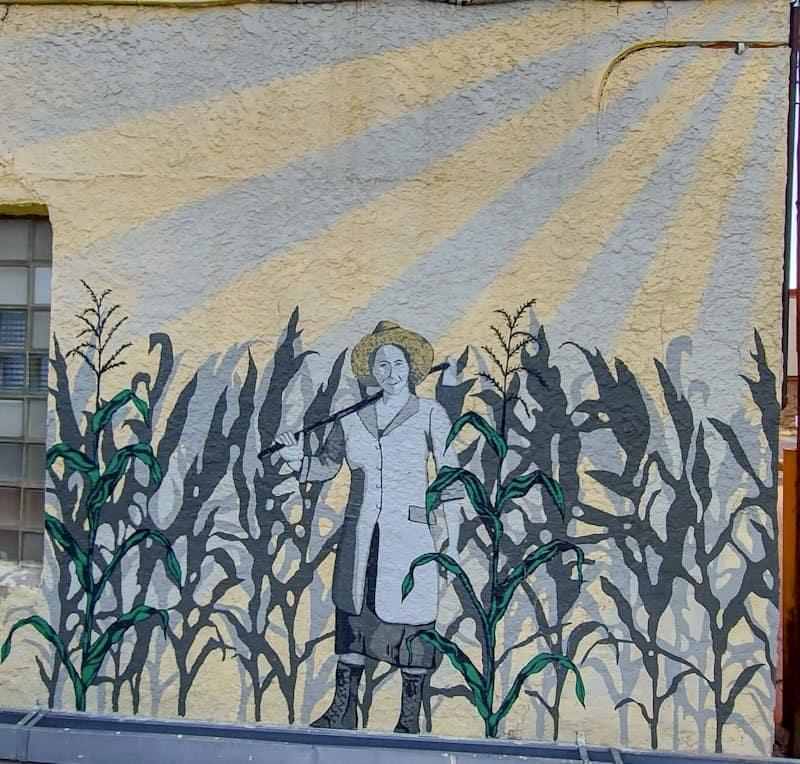 corn mural in laramie wyoming