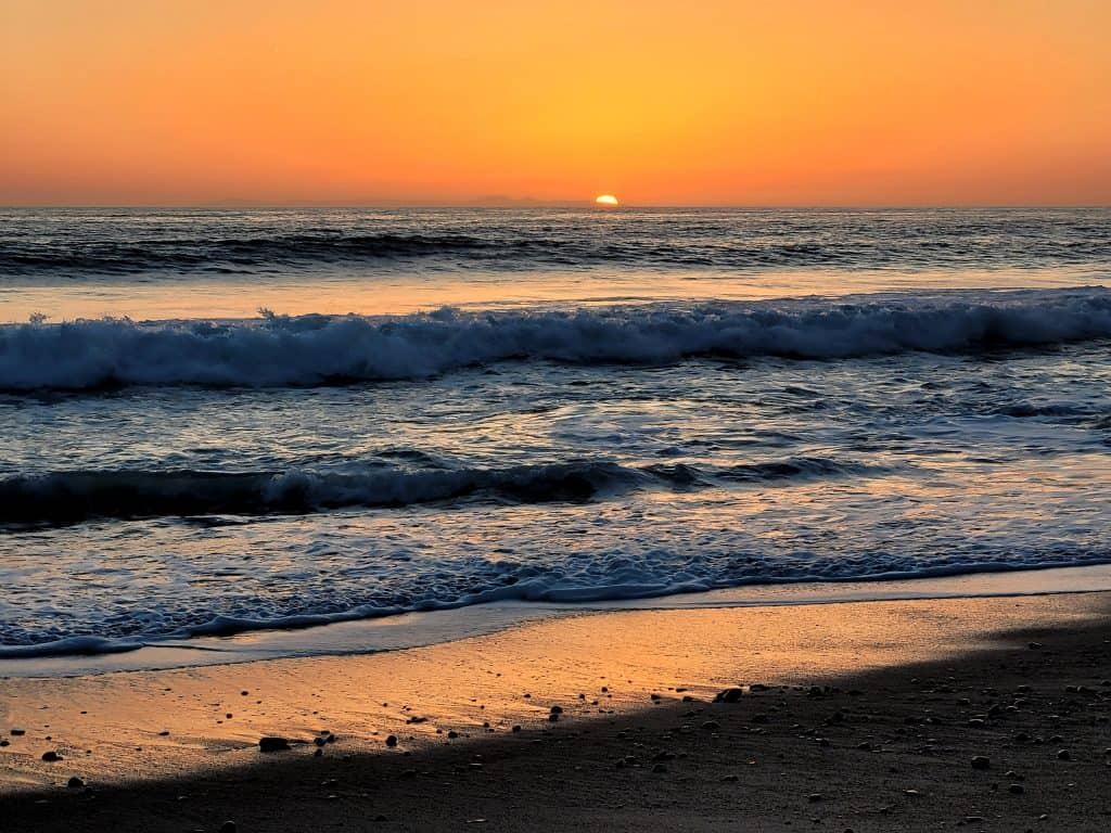 sunset at san clemente state beach