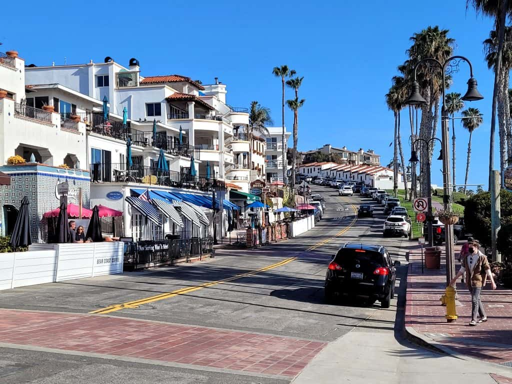 view of del mar ave from san clemente pier