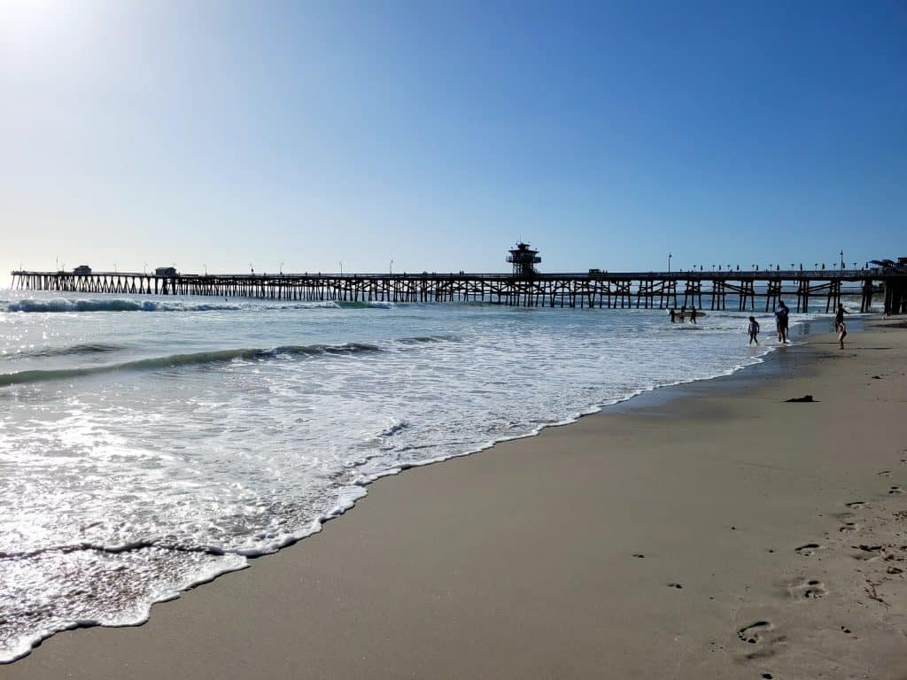 san clemente pier in southern california