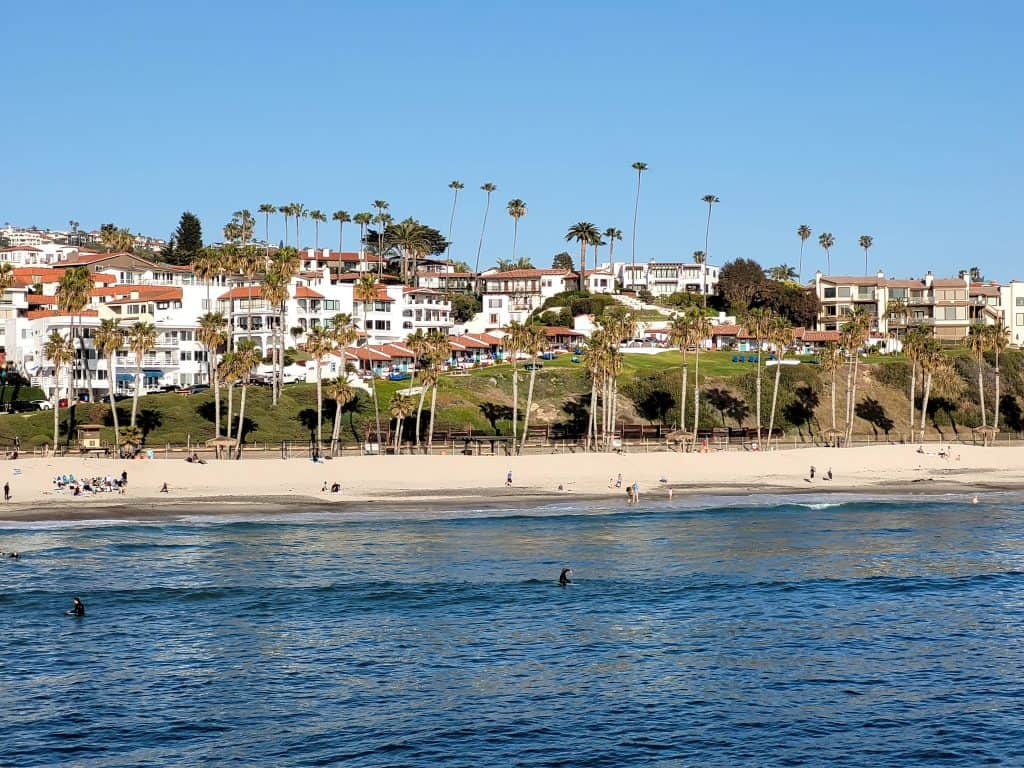 view of san clemente california from the pier