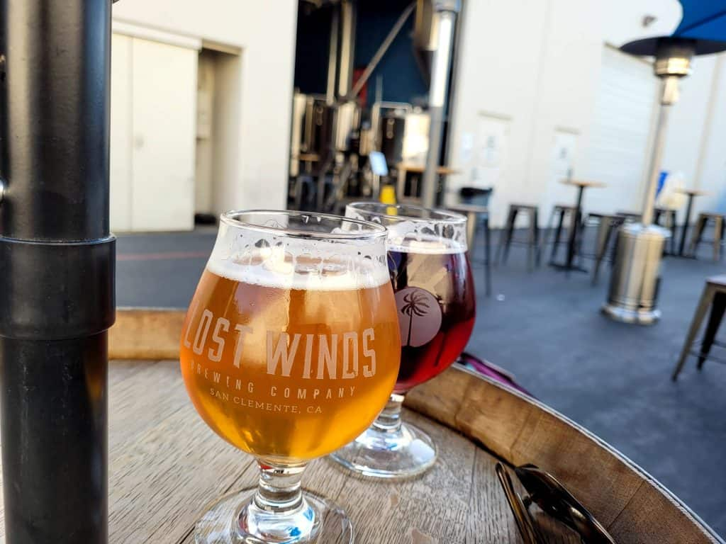 lost winds brewery in san clemente is a great place for beers on patio