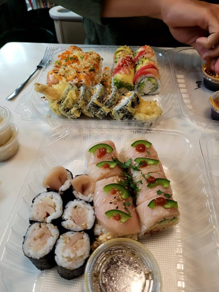 sushi from muse sushi bar in san clemente