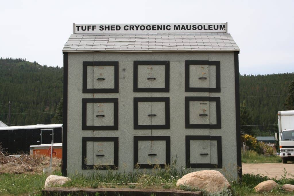 tuff shed cryogenic mausoleum is a can't miss thing to do in nederland