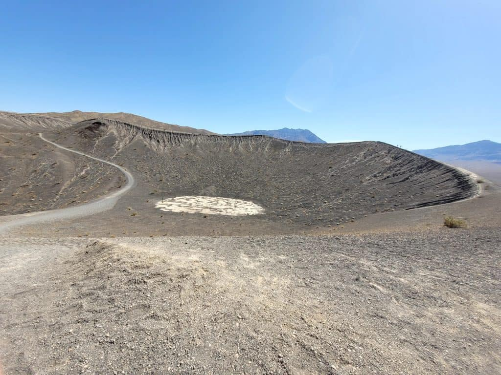 little hebe crater at death valley