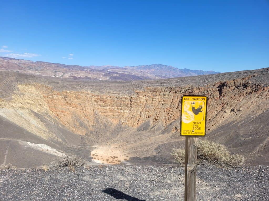 ubehebe crater at death valley