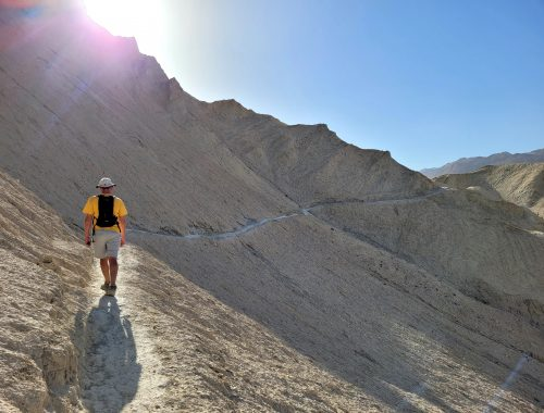 hiking at death valley