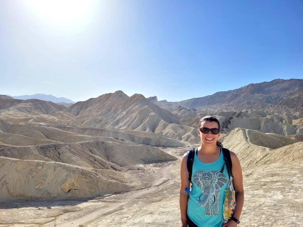 kara on gower gulch trail in death valley