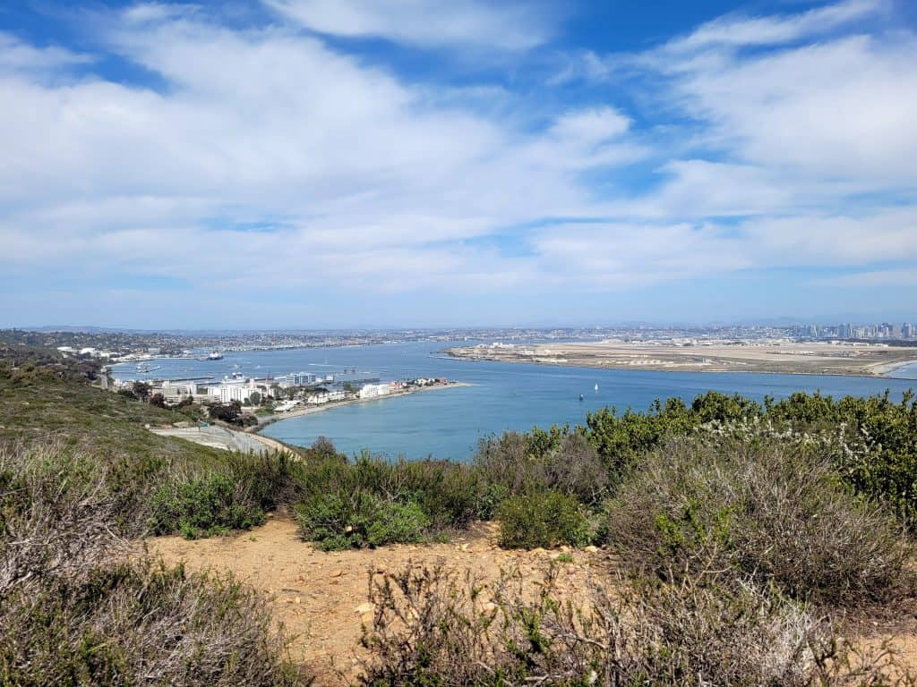 view of san diego bay from cabrillo