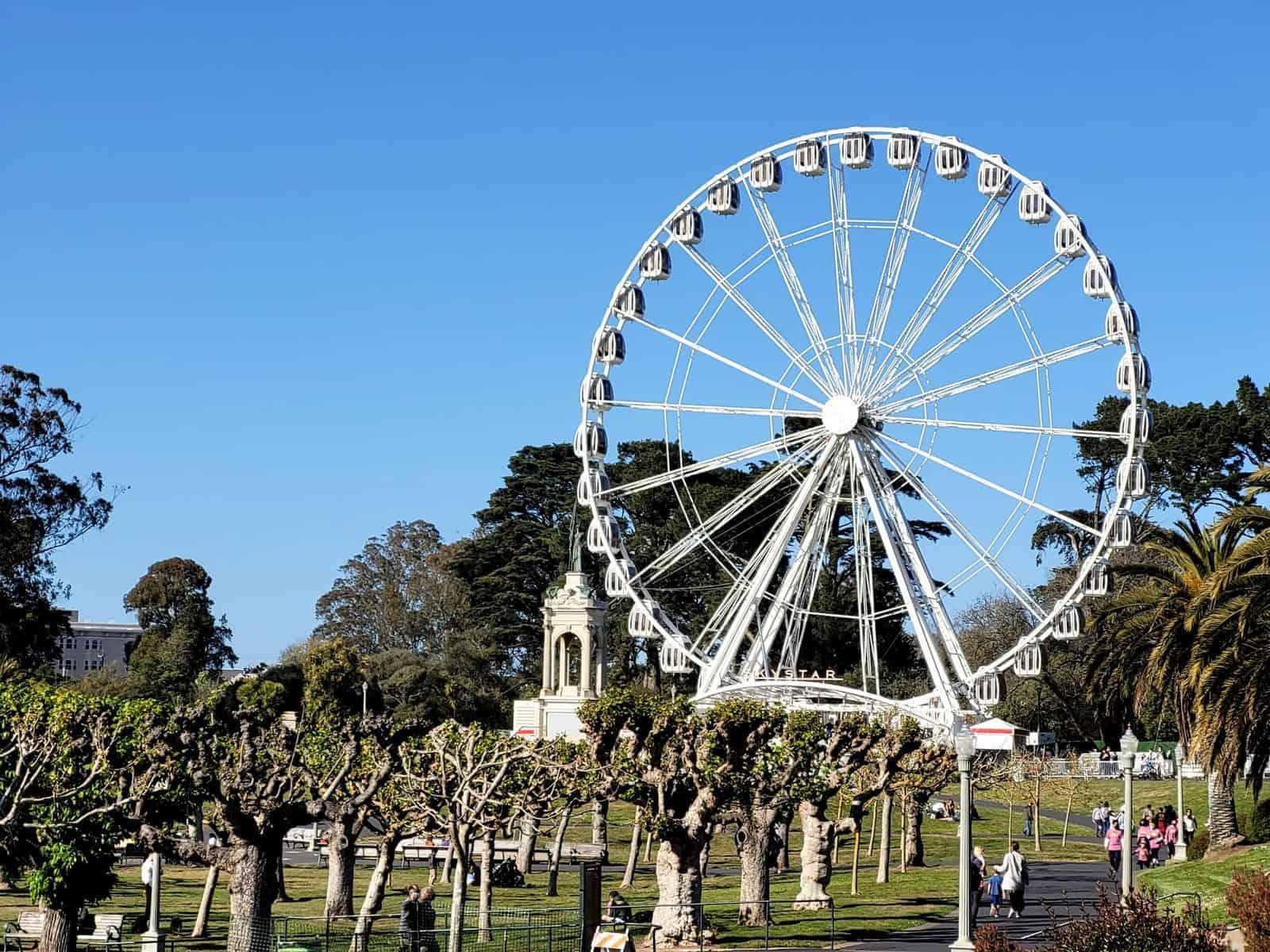 ferris wheel in golden gate park in san francisco