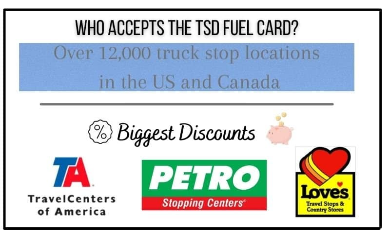 where can i use my tsd fuel card to save on rv fuel