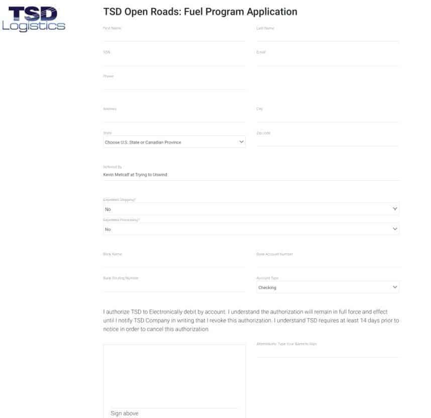 tsd application