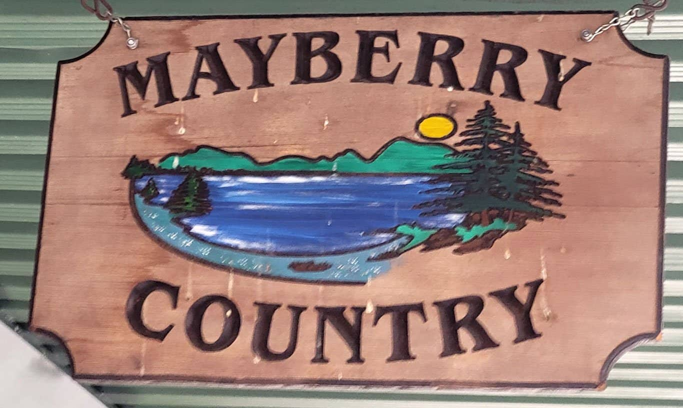 mayberry country sign