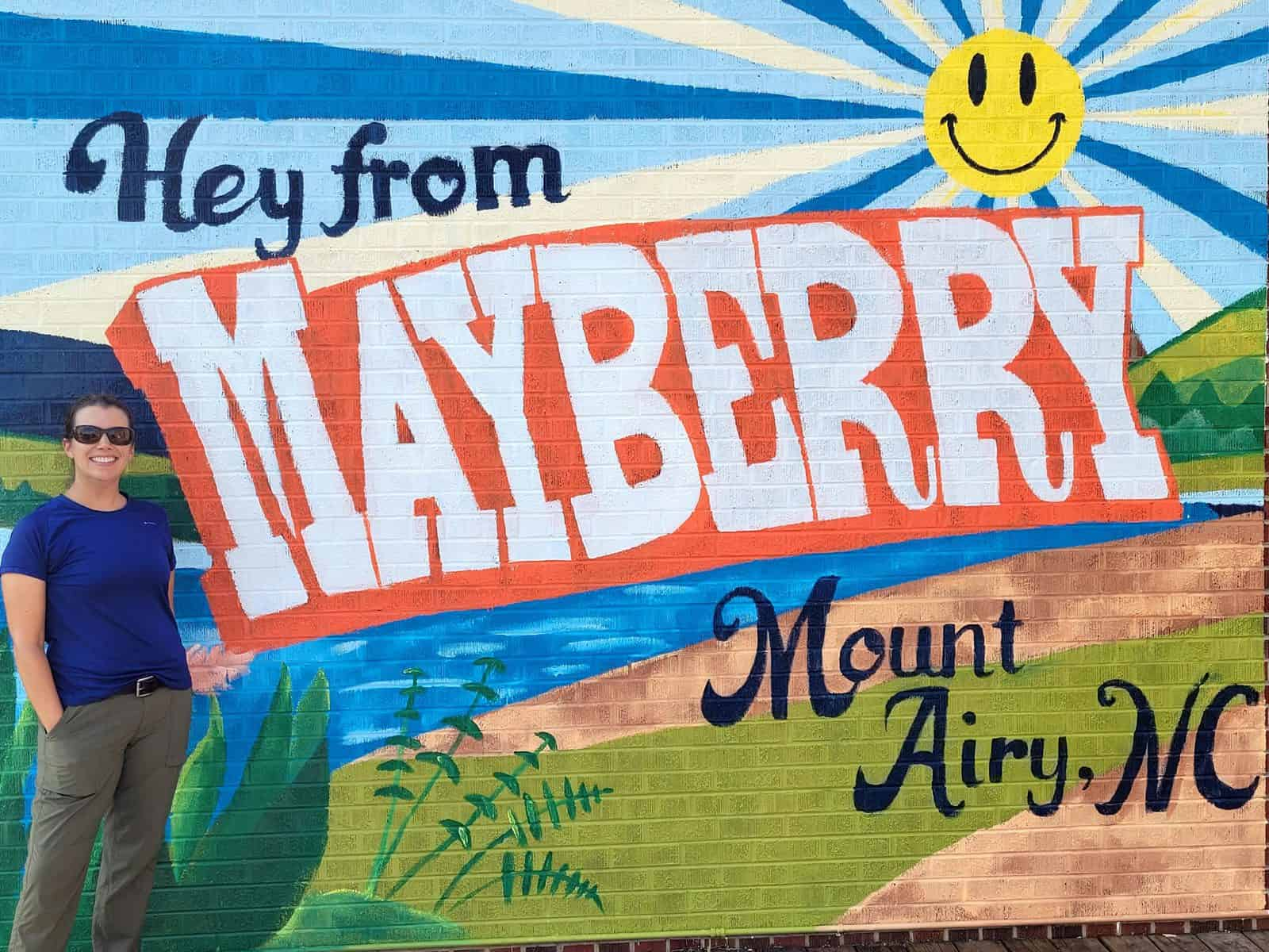 hey from mayberry mural in mount airy nc