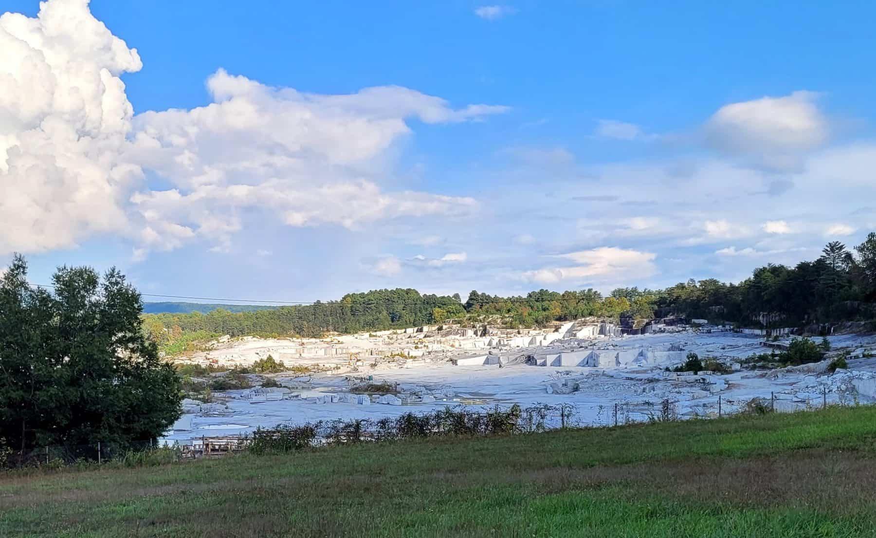 open face granite quarry in mount airy north carolina